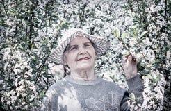 ηλικιωμένη ευτυχής γυναίκα Στοκ φωτογραφίες με δικαίωμα ελεύθερης χρήσης