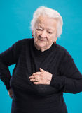 Ηλικιωμένη κακή γυναίκα συναισθήματος Στοκ Εικόνες