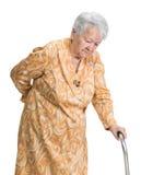 Ηλικιωμένη λυπημένη γυναίκα Στοκ εικόνες με δικαίωμα ελεύθερης χρήσης