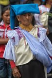 Ηλικιωμένη quechua γυναίκα σε COtacachi Ισημερινός Στοκ φωτογραφία με δικαίωμα ελεύθερης χρήσης