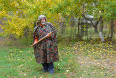 Ηλικιωμένος ευχάριστος υπερασπίζει farmstead του στοκ φωτογραφία με δικαίωμα ελεύθερης χρήσης