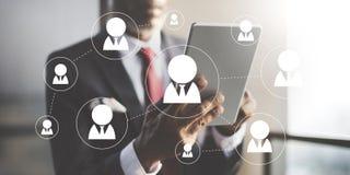 Η δικτύωση δικτύων επικοινωνεί την έννοια σύνδεσης επικοινωνίας στοκ φωτογραφίες