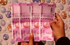 Η Ινδία έχει απαγορεύσει την παλαιά σημείωση 500 και 1000 ρουπίων Στοκ φωτογραφία με δικαίωμα ελεύθερης χρήσης