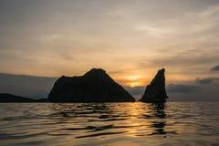Ηλιοβασίλεμα άποψης Στοκ Εικόνες