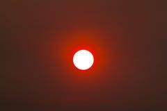 Ηλιοβασίλεμα λέκιθου αυγών Στοκ Εικόνες