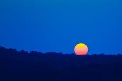 Ηλιοβασίλεμα ήλιων για το υπόβαθρο Στοκ Εικόνες
