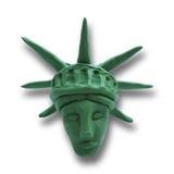 ηλιοβασίλεμα αγαλμάτων της Νέας Υόρκης ελευθερίας πόλεων διανυσματική απεικόνιση