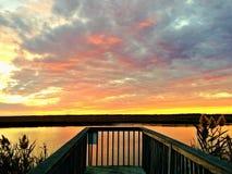 Ηλιοβασίλεμα ακτών του Τζέρσεϋ Στοκ εικόνες με δικαίωμα ελεύθερης χρήσης