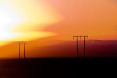 ηλιοβασίλεμα αμμόλοφων του Ντουμπάι ερήμων Στοκ φωτογραφία με δικαίωμα ελεύθερης χρήσης