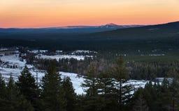 Ηλιοβασίλεμα ΑΜ Burney Στοκ Εικόνα