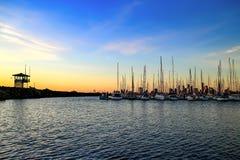 Ηλιοβασίλεμα αποβαθρών kilda της Αυστραλίας Μελβούρνη ST Στοκ Φωτογραφίες
