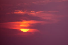 Ηλιοβασίλεμα αποκριών ή υπόβαθρο ανατολής Στοκ εικόνες με δικαίωμα ελεύθερης χρήσης