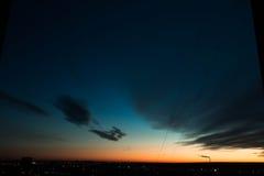 Ηλιοβασίλεμα από ένα ύψος Στοκ εικόνες με δικαίωμα ελεύθερης χρήσης