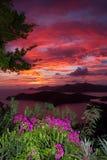 Ηλιοβασίλεμα από τα ύψη της Shirley στοκ εικόνα
