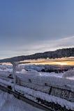 Ηλιοβασίλεμα από την κορυφή Saentis Στοκ Εικόνα