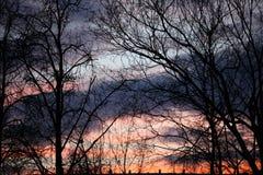 Ηλιοβασίλεμα από τη Ρωσία Στοκ εικόνα με δικαίωμα ελεύθερης χρήσης