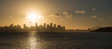 Ηλιοβασίλεμα από το Σύδνεϋ Στοκ φωτογραφία με δικαίωμα ελεύθερης χρήσης