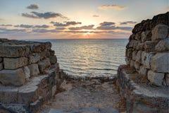 Ηλιοβασίλεμα από Apollonia Στοκ εικόνες με δικαίωμα ελεύθερης χρήσης