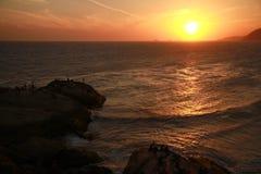 Ηλιοβασίλεμα από Arpoador στο Ρίο ντε Τζανέιρο Στοκ φωτογραφίες με δικαίωμα ελεύθερης χρήσης
