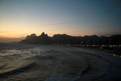 Ηλιοβασίλεμα από Arpoador στο Ρίο ντε Τζανέιρο Στοκ φωτογραφία με δικαίωμα ελεύθερης χρήσης