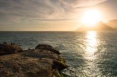 Ηλιοβασίλεμα από Arpoador Στοκ εικόνα με δικαίωμα ελεύθερης χρήσης