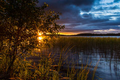 Ηλιοβασίλεμα Αυγούστου Στοκ Φωτογραφίες