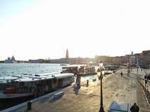 ηλιοβασίλεμα Βενετία Στοκ εικόνα με δικαίωμα ελεύθερης χρήσης