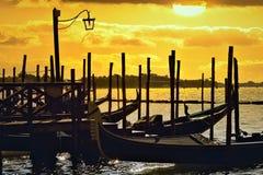 ηλιοβασίλεμα Βενετία στοκ εικόνες