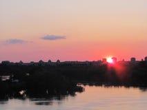 Ηλιοβασίλεμα Βελιγραδι'ου Στοκ φωτογραφία με δικαίωμα ελεύθερης χρήσης