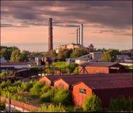 Ηλιοβασίλεμα βιομηχανικό τοπίο Ρωσία Στοκ φωτογραφία με δικαίωμα ελεύθερης χρήσης