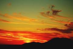 Ηλιοβασίλεμα βουνών της Γεωργίας Στοκ φωτογραφία με δικαίωμα ελεύθερης χρήσης