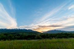 Ηλιοβασίλεμα βουνών της Γιούτα Στοκ εικόνες με δικαίωμα ελεύθερης χρήσης