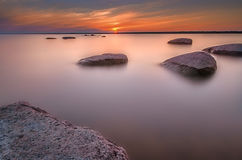 Ηλιοβασίλεμα βράχου Στοκ εικόνες με δικαίωμα ελεύθερης χρήσης
