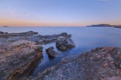 ηλιοβασίλεμα βράχων Στοκ Φωτογραφίες