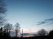 Ηλιοβασίλεμα βραδιού Στοκ Εικόνες