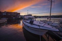 Ηλιοβασίλεμα βρύου Στοκ εικόνα με δικαίωμα ελεύθερης χρήσης