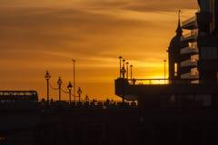 Ηλιοβασίλεμα γεφυρών του Λονδίνου Στοκ εικόνα με δικαίωμα ελεύθερης χρήσης