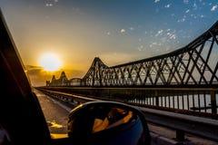 Ηλιοβασίλεμα γεφυρών Στοκ εικόνα με δικαίωμα ελεύθερης χρήσης