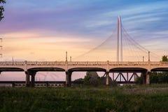 Ηλιοβασίλεμα γεφυρών Hill της Margaret Κυνήγι Στοκ Εικόνες