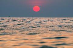 Ηλιοβασίλεμα για την ανασκόπηση Στοκ Φωτογραφία