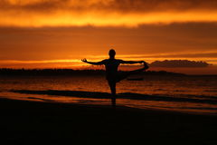 Ηλιοβασίλεμα γιόγκας Στοκ φωτογραφίες με δικαίωμα ελεύθερης χρήσης