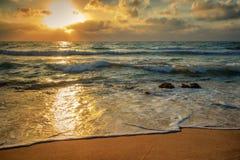 Ηλιοβασίλεμα εν πλω στοκ εικόνα