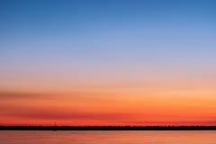 Ηλιοβασίλεμα εν πλω Στοκ εικόνες με δικαίωμα ελεύθερης χρήσης