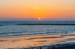 Ηλιοβασίλεμα εν πλω Στοκ εικόνα με δικαίωμα ελεύθερης χρήσης