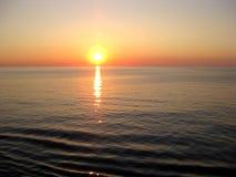 Ηλιοβασίλεμα εν πλω Στοκ φωτογραφίες με δικαίωμα ελεύθερης χρήσης