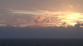 Ηλιοβασίλεμα εν πλω απόθεμα βίντεο