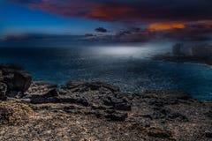 Ηλιοβασίλεμα επάνω στη θάλασσα Στοκ Εικόνες