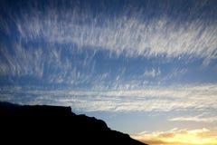 Ηλιοβασίλεμα επιτραπέζιων βουνών Στοκ εικόνα με δικαίωμα ελεύθερης χρήσης