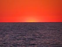 Ηλιοβασίλεμα Ερυθρών Θαλασσών Στοκ Εικόνες