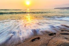 Ηλιοβασίλεμα θάλασσας τοπίων Στοκ εικόνες με δικαίωμα ελεύθερης χρήσης